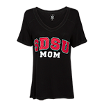 Women's SDSU Mom Tee-Black