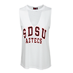 Women's SDSU Aztecs Tank-White