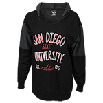 Women's San Diego State University Sweatshirt-Black