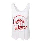 SDSU Aztecs Soft Crop Tank-White