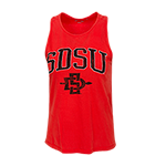 Women's SDSU Racerback Tank-Red
