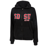 Women's SDSU Full Zip Sweatshirt-Black