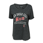 Women's San Diego State Mom Tee-Black