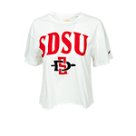 Women's SDSU Crop Tee-White