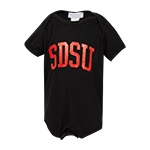 SDSU Infant Onesie-Black