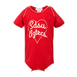 SDSU Aztecs in Heart Onesie-Red