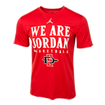 Nike  We Are Jordan SD Spear Basketball Tee-Red