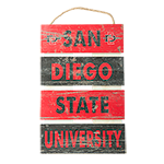 San Diego State University Plank Sign-Red & Black
