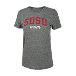 Women's SDSU Mom Triblend Tee-Gray