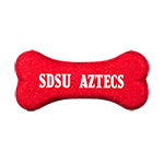 SDSU Aztecs Bone Shaped Tennis Ball-Red