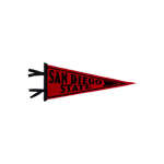 San Diego State Pennant- Red
