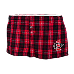 Women's SD Spear Plaid Flannel Short-Red & Black