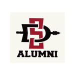 SD Spear Alumni Decal-White