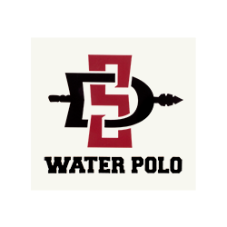 SD Spear Water Polo Decal- White