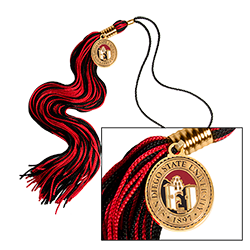Red & Black SDSU Medallion Tassel