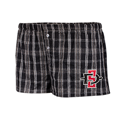 Women's SD Spear Flannel Shorts-Black