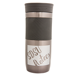SDSU Aztecs Travel Mug-Silver