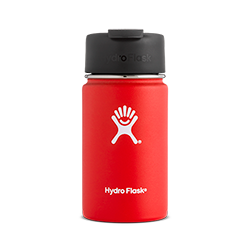 Hydro Flask 12 oz Wide Mouth Flip Lid-Lava Red