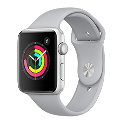 Apple Watch Series 3 GPS, 42mm Silver Aluminum Case w/ Fog Sport Band