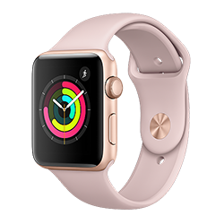 Apple Watch Series 3 GPS 42mm Gold Aluminum Case w/ Pink Sand Sport Band