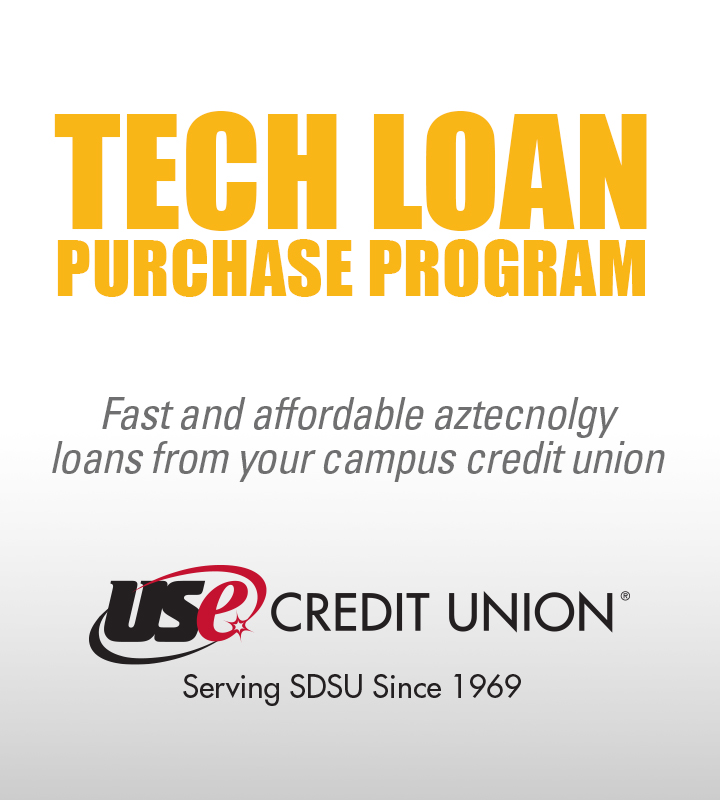 Tech loan purchase program. Fast and affordable aztecnology loans from your campus credit union. USE Credit Union, serving SDSU since 1969.