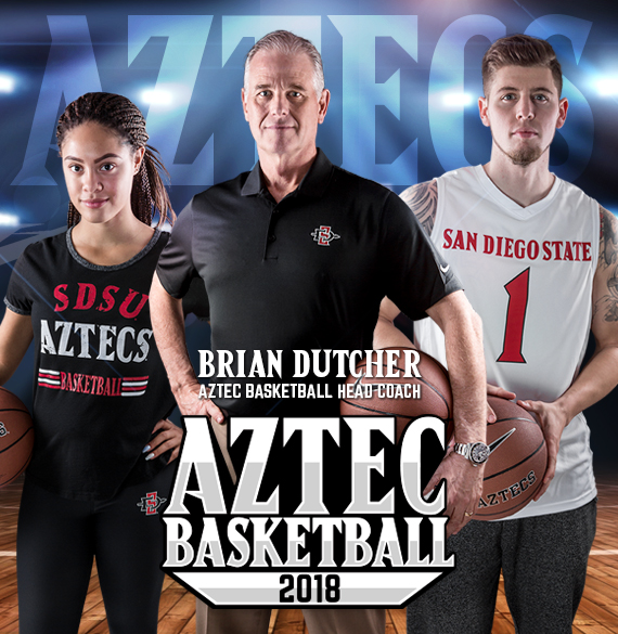 Brian Dutcher. Aztec Basketball Head Coach. Aztec Basketball 2018.