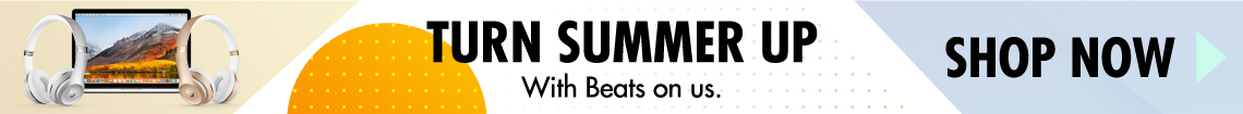 Turn summer up with Beats on us. Shop Now!