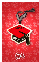 Gifts. Photo of SDSU Alumni keychain.