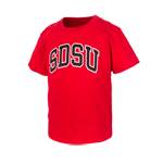 Arched SDSU Toddler Tee-Red