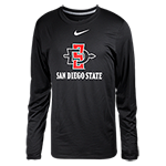 Nike SD Spear Long Sleeve Tee- Black