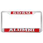 SDSU Alumni License Plate Frame-Chrome/Red