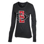 Women's SD Spear Long Sleeve Tee-Charcoal