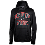 Nike San Diego State Therma Fit Sweatshirt-Black
