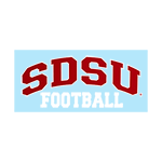 Arched SDSU Football Decal