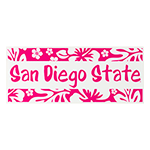 San Diego State Hibiscus Decal-Pink