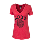 Women's Aztec Calendar Tee-Red