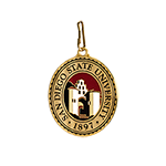 SDSU Medallion Regalia Zipper Pull