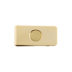 University Seal Money Clip-Gold