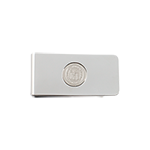 University Seal Money Clip- Silver Tone