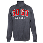 SDSU Aztecs 1/4 Zip Sweatshirt-Charcoal