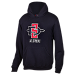 SD Spear Alumni Hood Sweatshirt-Black