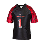 Youth Aztec Calendar #1 Football Jersey-Black