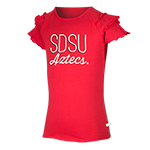 Youth SDSU Aztecs Ruffle Tee-Red