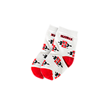 Infant SD Spear Sock- Red & White