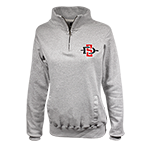 Women's SD Spear 1/4 Zip Sweatshirt-Gray
