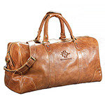 Online Exclusive- Large Leather Duffel Bag