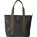 Online Exclusive- Black Leather Tote