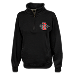Women's 1/4 Zip SD Spear Sweatshirt-Black