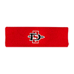 SD Spear Terrycloth Headband-Red