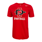 SD Spear Football Tee-Red